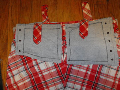 How to make a mini skirt. Funky Plaid Corset Skirt - Step 8