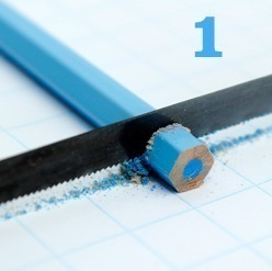 How to make a recycled necklace. Pencil Crayon Jewelry - Step 1