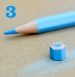 How to make a recycled necklace. Pencil Crayon Jewelry - Step 3