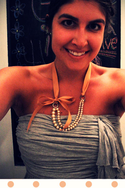 How to make a pearl necklace. Diy Pearl Necklace - Step 4