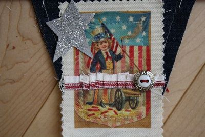 How to make a bunting / garland. 4th Of July Pennant Banner - Step 7
