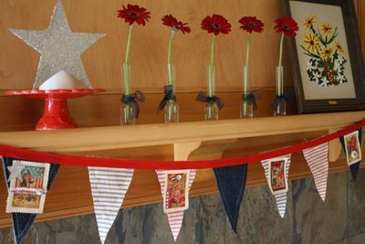 How to make a bunting / garland. 4th Of July Pennant Banner - Step 8