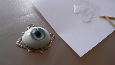 How to make a tiara / crown. Third Eye Chain Headpiece - Step 2