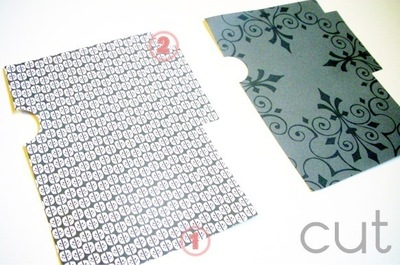 How to make an envelope. Gift Card Holder - Step 3