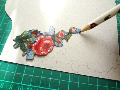 How to make a floral pendant. Victorian Rose Pendant - Step 1