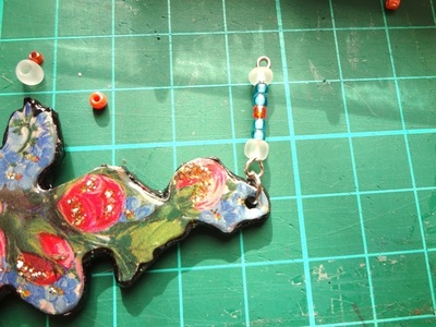 How to make a floral pendant. Victorian Rose Pendant - Step 9