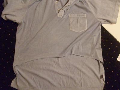 How to make a crop top. Asymmetrical Polo Shirt  - Step 2