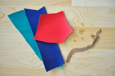 How to make a leather necklace. Heart + Arrow Necklace - Step 1