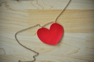 How to make a leather necklace. Heart + Arrow Necklace - Step 3