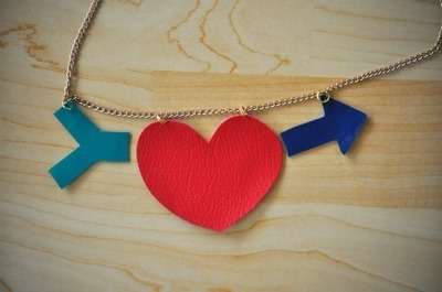 How to make a leather necklace. Heart + Arrow Necklace - Step 4