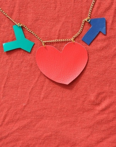 How to make a leather necklace. Heart + Arrow Necklace - Step 5