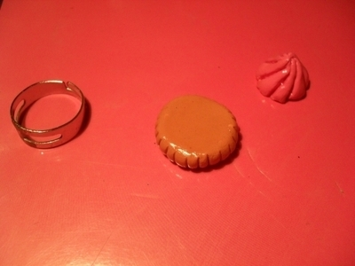 How to make a clay ring. Cookie Ring - Step 9