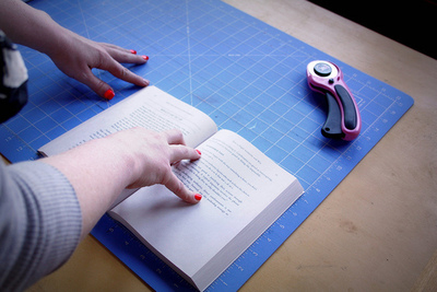 How to make a paper book cover. Waxed Paper Book Covers - Step 1