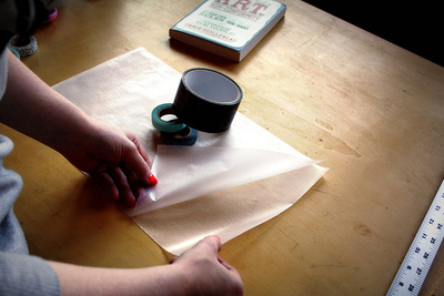 How to make a paper book cover. Waxed Paper Book Covers - Step 3