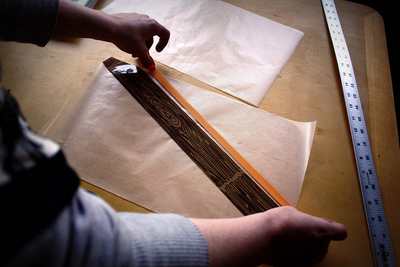How to make a paper book cover. Waxed Paper Book Covers - Step 5