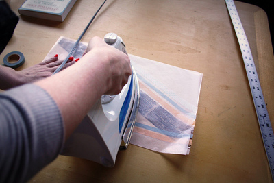How to make a paper book cover. Waxed Paper Book Covers - Step 8