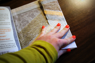 How to make a paper book cover. Waxed Paper Book Covers - Step 13