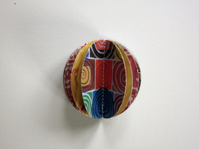 How to make a paper brooch. How To Make A 3 D Paper Brooch - Step 7