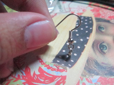 How to make a pair of clay earring. Charms To Earrings - Step 2