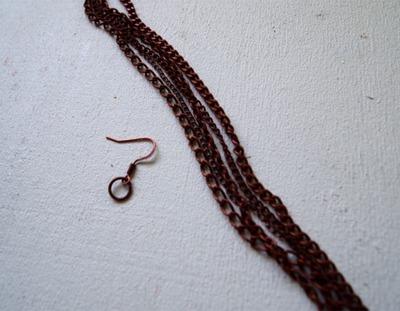How to make a tassel earring. Tassel Knot Chain Earrings - Step 1