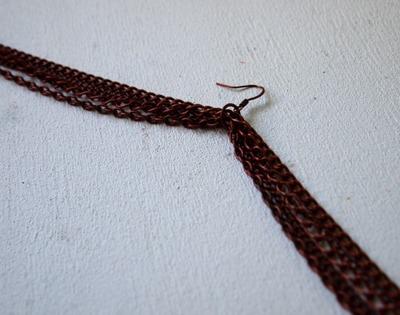 How to make a tassel earring. Tassel Knot Chain Earrings - Step 2
