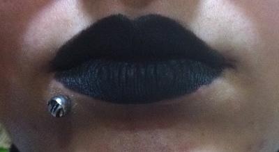 How to create a lip makeup look. Ke$Ha Inspired Lips - Step 2