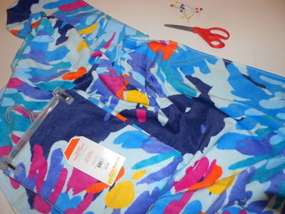 How to make a recycled skirt. Pool Towel Maxi Skirt - Step 1