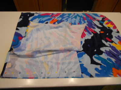 How to make a recycled skirt. Pool Towel Maxi Skirt - Step 5