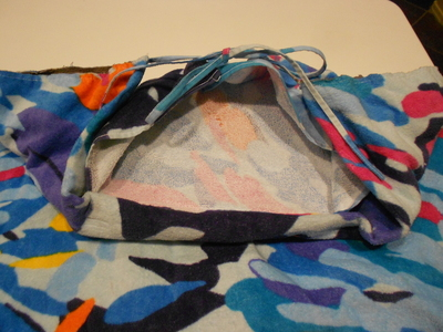 How to make a recycled skirt. Pool Towel Maxi Skirt - Step 14
