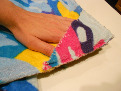 How to make a recycled skirt. Pool Towel Maxi Skirt - Step 16