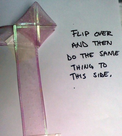 How to create art / a model. Folded Ribbon Rose - Step 4