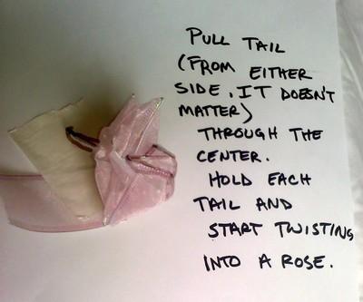 How to create art / a model. Folded Ribbon Rose - Step 7