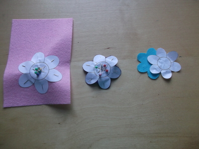 How to sew a fabric flower charm. 3 D Flower!! - Step 2