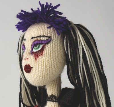 How to make a rag dolls / a person plushie. Violetta Gothic Doll - Step 8
