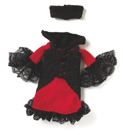 How to make a rag dolls / a person plushie. Violetta Gothic Doll - Step 10