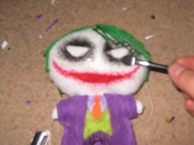 How to make a food plushie. The Joker Plushie - Step 4