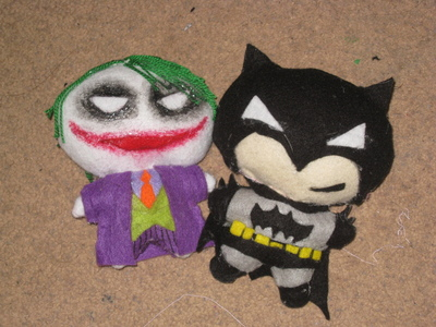 How to make a food plushie. The Joker Plushie - Step 7