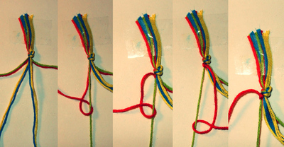 How to braid a braided ring. Frieda And Nellie Friendship Ring - Step 2