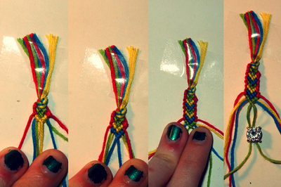 How to braid a braided ring. Frieda And Nellie Friendship Ring - Step 6