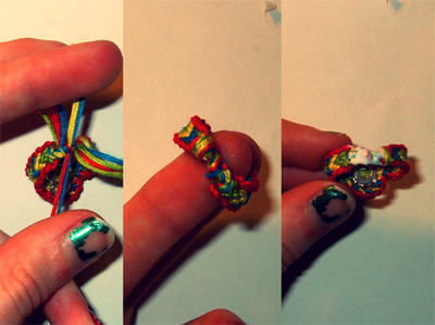 How to braid a braided ring. Frieda And Nellie Friendship Ring - Step 9