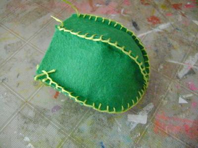 How to make a jar & pot pin cushions. Cactus Pincushion - Step 2
