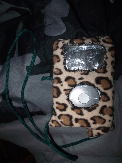 How to make a music player pouch. I Pod On The Go Case - Step 8