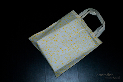 How to paint a painted tote. Fabric Marker Tote - Step 4