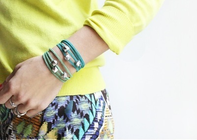 How to braid a braided bead bracelet. Ombre Wrap Abacus Bracelets - Step 3