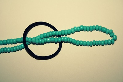 How to make a recycled headband. Super Fast Necklace To Headband Diy   - Step 3