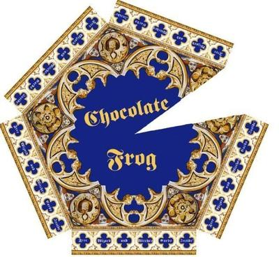 How to fold an origami box. Chocolate Frog - Step 1