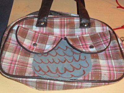 How to make a handbag. From A Boob Purse To An Owl:P - Step 2