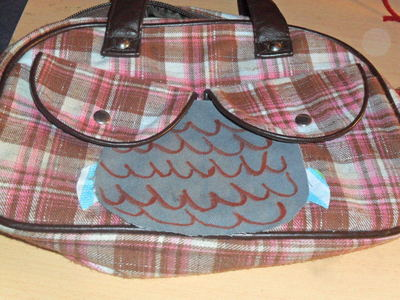 How to make a handbag. From A Boob Purse To An Owl:P - Step 3