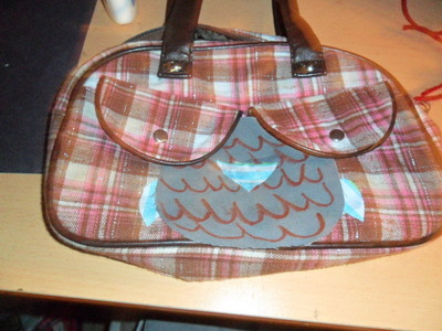 How to make a handbag. From A Boob Purse To An Owl:P - Step 4