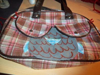 How to make a handbag. From A Boob Purse To An Owl:P - Step 5